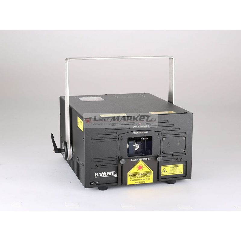 KVANT ClubMax 3400, 3400mW plnobarevný laserový projektor, RGB, ILDA, DMX