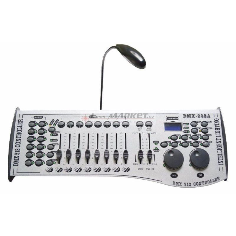 DMX controller 240A, ovladací světelný pult, až 240 programovatelných scén s 20 DMX kanály