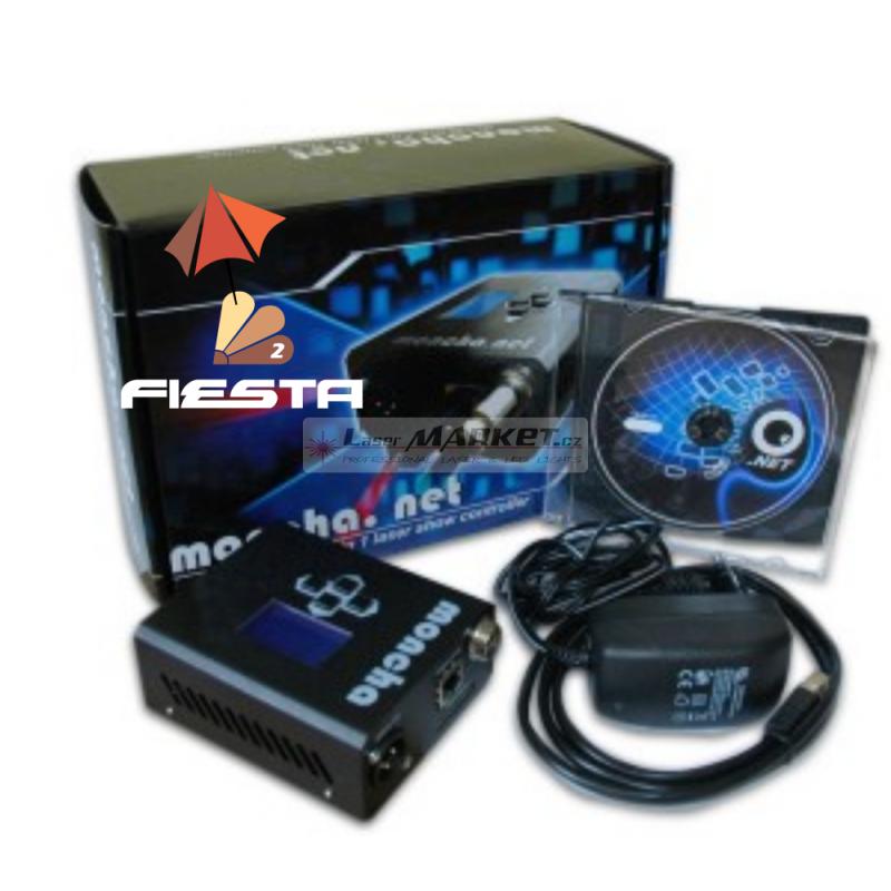 Fiesta software licence + Moncha.NET Master převodník, profesionální laser show software.