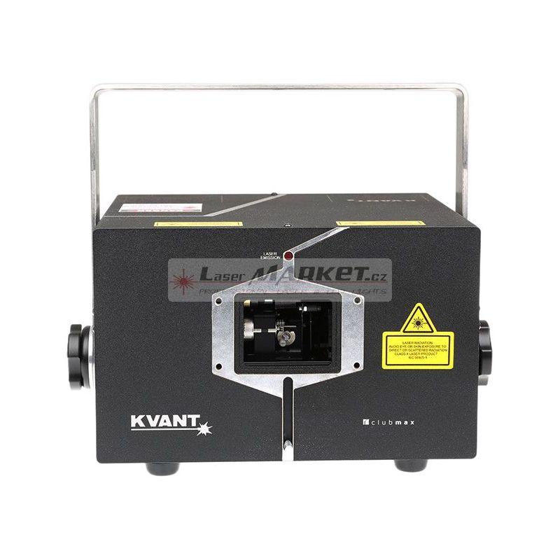 KVANT ClubMax 3000 FB4, 3000mW plnobarevný laserový projektor, RGB, ILDA, LAN, SD, DMX.