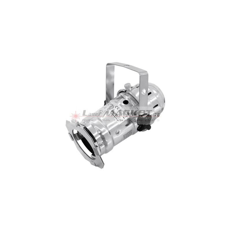 Eurolite LED PAR-16 spot stříbrný, 1x3W LED, 3200K