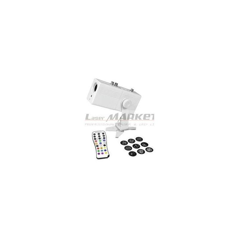 Eurolite LED Gobo projektor AKKU 1x10W bílá IR, dobíjecí baterie