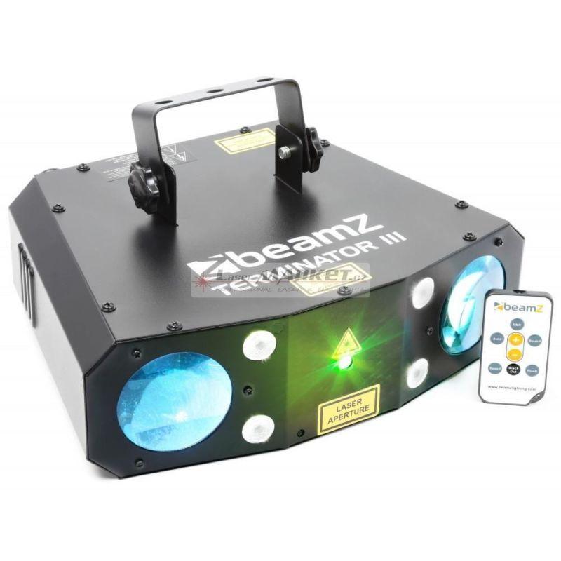 BeamZ LED Terminator 56x5mm RGBW, Laser, Strobo, IR, světelný efekt