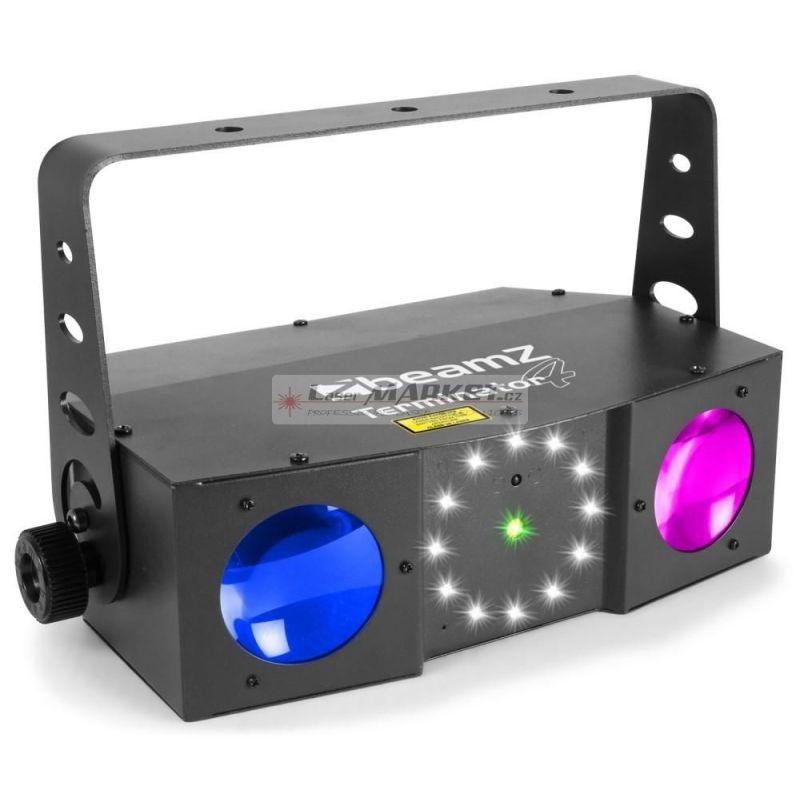 Beamz Strobo Terminator 66x 5mm RGBW, 12 x 1W strobo, Laser RG, IR