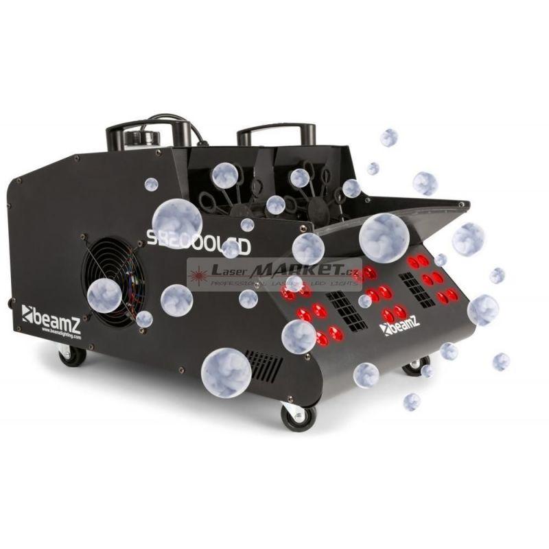 BeamZ SB2000LED, výrobník mlhy a bublin s RGB LED efektem