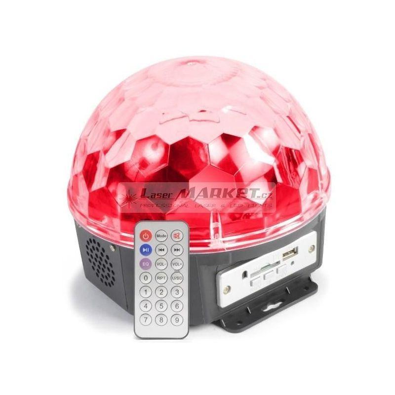 MAX Magic Jelly DJ Ball 6x 1W LED SD/USB/MP3