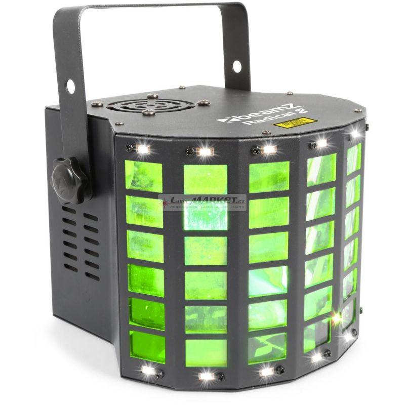 BeamZ LED Radical II, paprskový efekt, 225 mW RG laser, Strobo