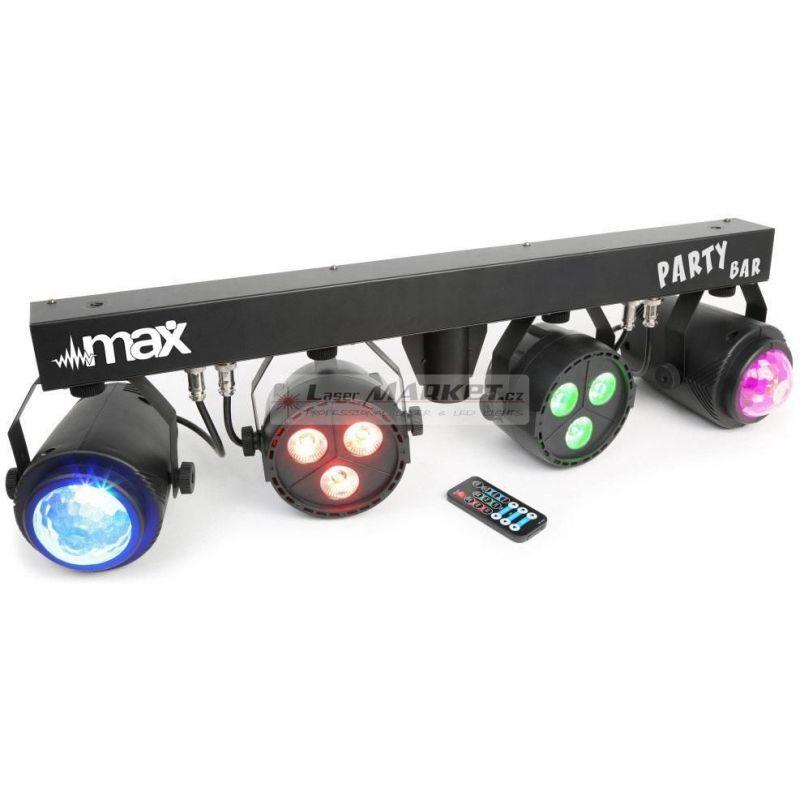 MAX Party Bar 2x LED PAR 3x3W QCL + 2x Jellymoon 4x3W RGBW
