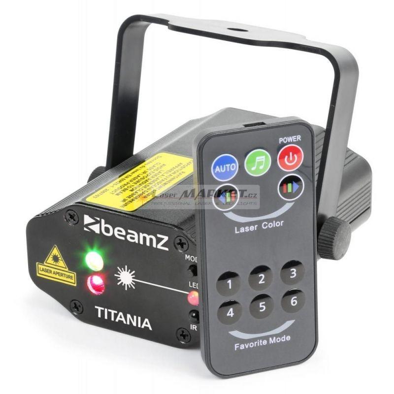 BeamZ Laser Titania Double, 200mW RG, Gobo, DO