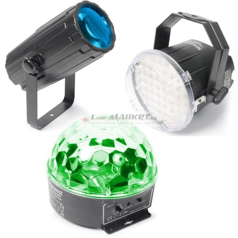 BeamZ Party světelný set, 2x LED světelný efekt a strobo