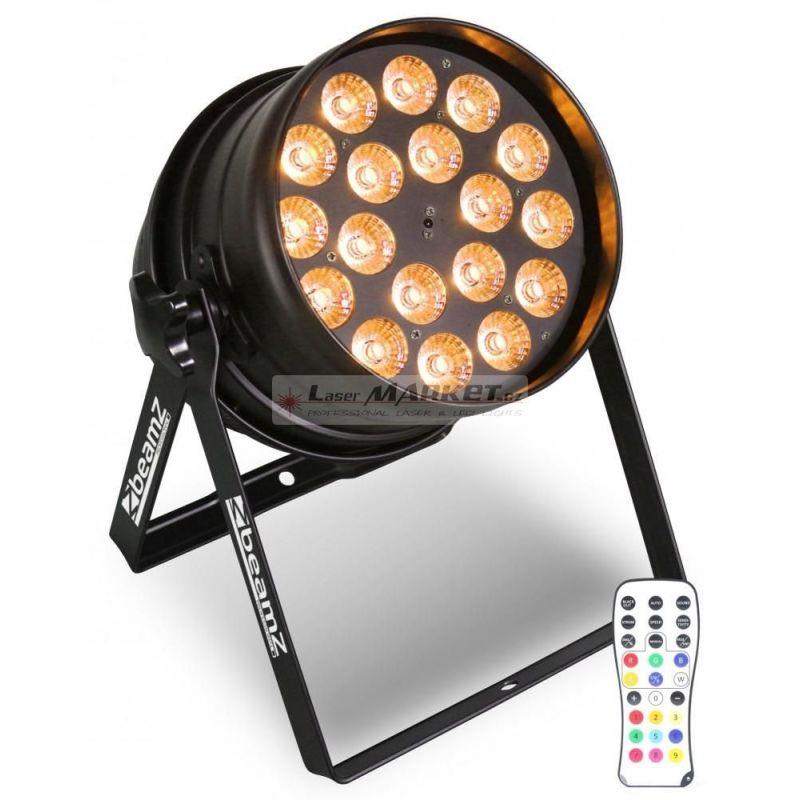 BeamZ LED PAR-64 RGBW, 18x 12W IR, DMX