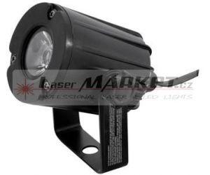 Eurolite LED spot 3W, 3200K, 6, černý, bodový reflektor