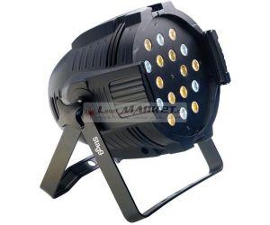 Stagg LED PAR ML-18x3W studená/teplá bílá DMX černý, LED reflektor