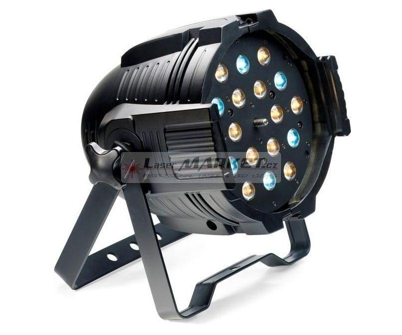 Stagg LED PAR MLZ-18x3W studená/teplá bílá DMX černý, LED reflektor