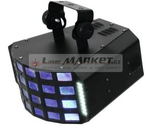 Eurolite LED Derby 4x 3W RGBA a 36x 5050 SMD DMX, paprskový efekt