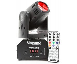 Beamz LED otočná hlavice Panther 15, 1x10W RGBW, IR, DMX