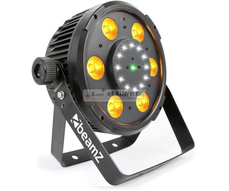 BeamZ BX100 PAR, QCL LED, Strobo, Laser RG, IR, DMX