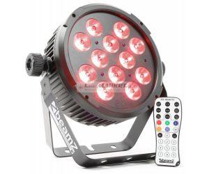 BeamZ LED FlatPAR 12x6W QCL, IR, DMX, černý