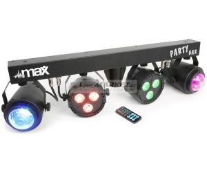 MAX Party Bar 2x LED PAR 3x3W QCL + 2x Jellymoon 4x3W RGBW