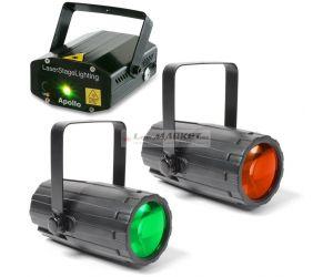 BeamZ světelný set 2, laser a 2 paprskové efekty