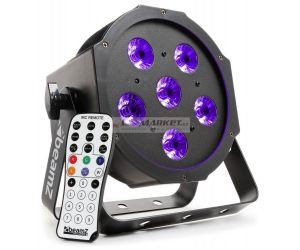 BeamZ BFP130 UV FlatPAR reflektor s IR, 6x 6W UV LED, DMX - poškozeno (SK151216)